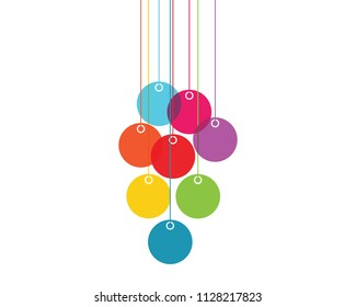 Color vector illustration lampions isolated on white background