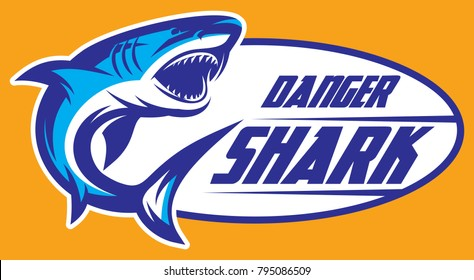 Color vector illustration of a toothy shark.
