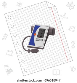 Color vector image. Electronic Tonometer
