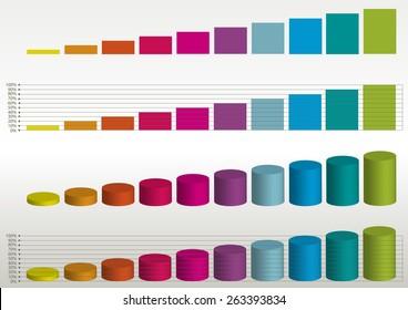 color vector statistics graphs