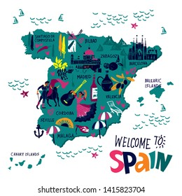 Map Of Spain For Tourists.Spain Cartoon Map Images Stock Photos Vectors Shutterstock