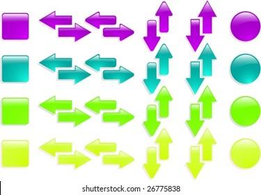 the color vector web arrow icon set eps 8