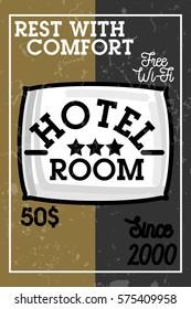 Color vintage hotel banner