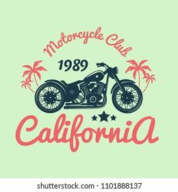 Color Vintage Motorcycle Emblem.Vector illustration