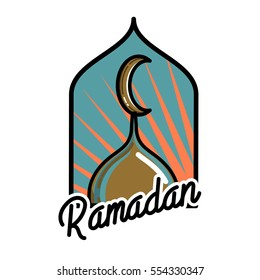 Color vintage ramadan emblem