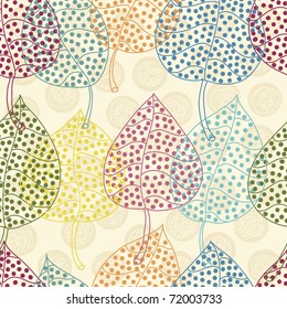 color vintage seamless pattern