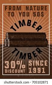 Color vintage timber banner