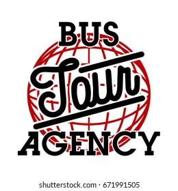 Color vintage tour agency emblem