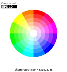 Color wheel 12 colors vector with  color circle with harmony design