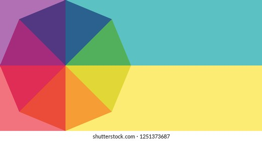 Color wheel abstract background