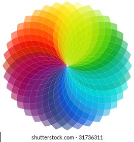 Color wheel background (vector)