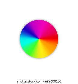 Color wheel. Circle color palette. Vector illustration