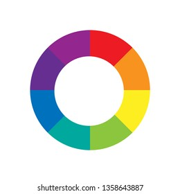 Color Wheel or Color Circle Picker Flat Vector Icon for Drawing / Painting Apps and Websites.
