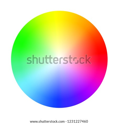 Color Wheel Guide Saturation Highlight Colour Stock Vector Royalty