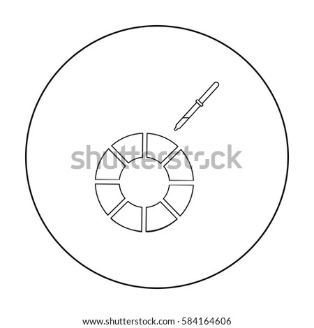 Color Wheel Icon Outline Style Isolated Stock Vector Royalty Free