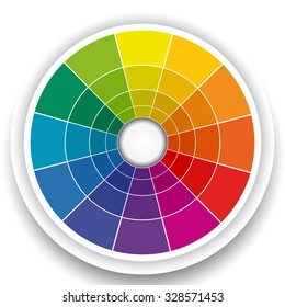 Color Wheel Isolated on White