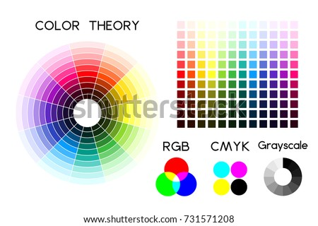 Color Wheel Color Palette Rgb Cmyk Stock Vector Royalty Free