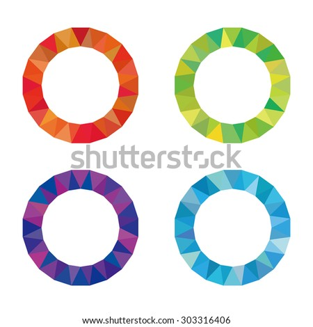 Color Wheel Red Blue Green Purple Stock Vector Royalty Free