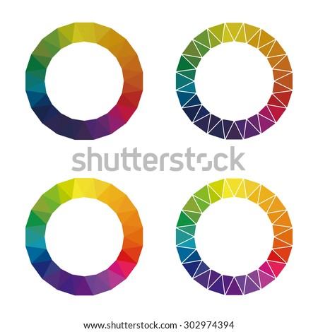 Color Wheel Showing Complementary Colors That Stock Vector Royalty