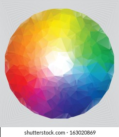 color wheel, spectrum in triangle style