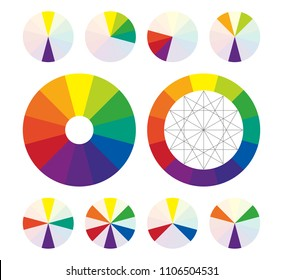 color wheel, types of color complementary schemes