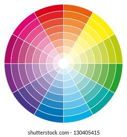 Color wheel. Vector illustration.