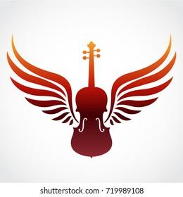 color winged violin symbol