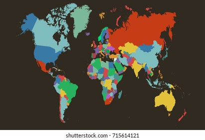 Color World map.