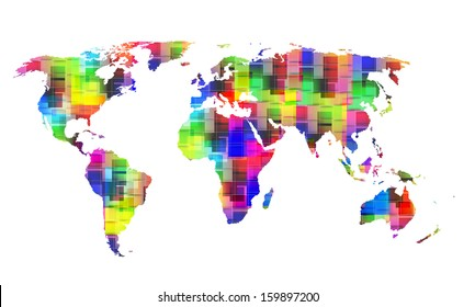 Cube World Map.Cube World Map Images Stock Photos Vectors Shutterstock