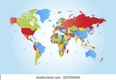 Country images stock photos vectors shutterstock color world map vector gumiabroncs Images