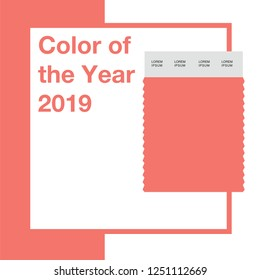 Color of the Year 2019 , vector illustration