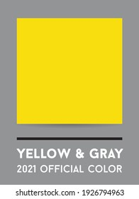 Color of the year 2021 - Yellow and Gray. Vector illustration. Square shape.