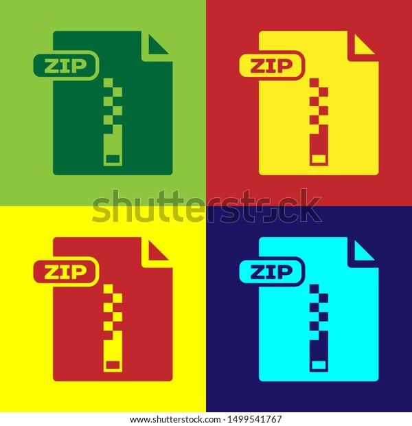 Color Zip File Document Download Zip Stock Vector Royalty Free 1499541767