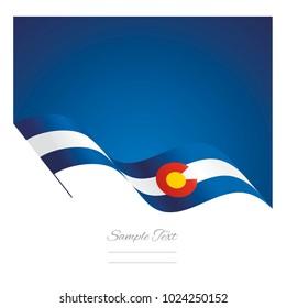 Colorado abstract wave flag ribbon vector background