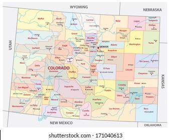 Colorado Road Map Stock Illustrations, Images & Vectors ...