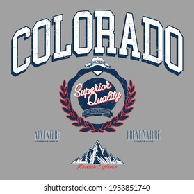 colorado college champions united states of america vintage campus team athletic for t-shirt