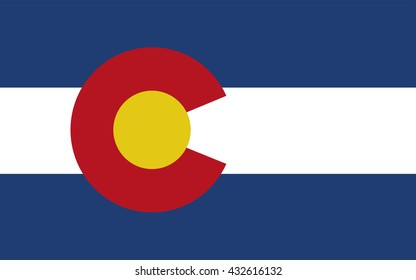 Colorado flag official right proportions, vector illustration