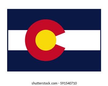 Colorado flag, vector illustration