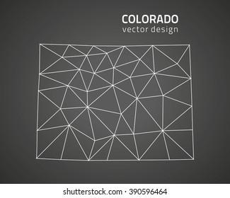 Colorado gray polygonal map