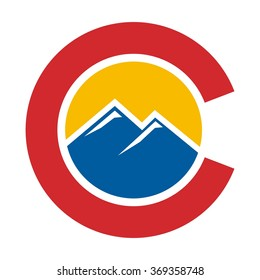 colorado hill logo vector.