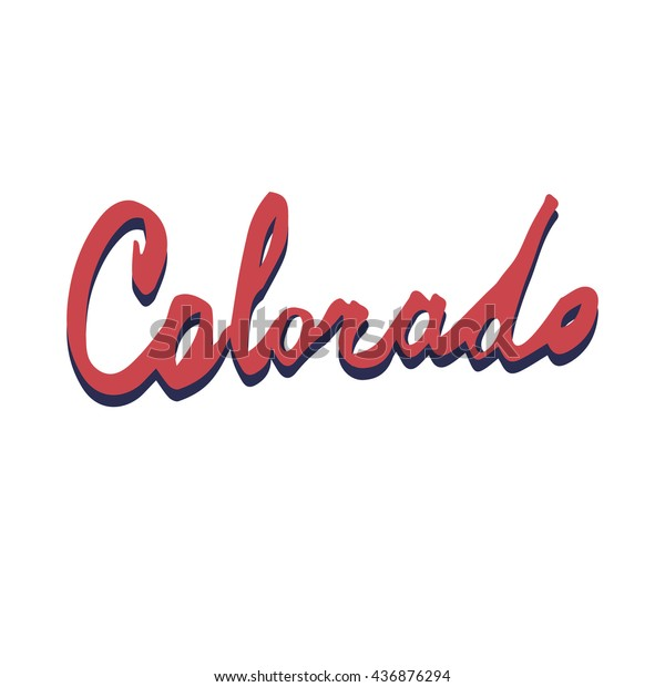 Colorado Lettering Fonts Vector Illustration Typography
