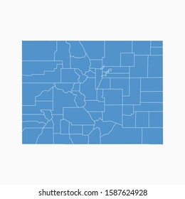 Colorado map blue color. USA state Colorado map icon. Colorado vector modern map. Vector illustration EPS10