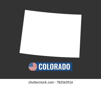 Colorado State Flag Outline Stock Vectors Images Vector Art