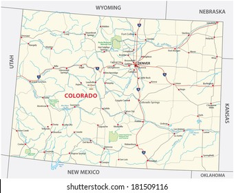 Colorado Map Images, Stock Photos & Vectors | Shutterstock