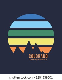 Colorado print design for t-shirt and other uses