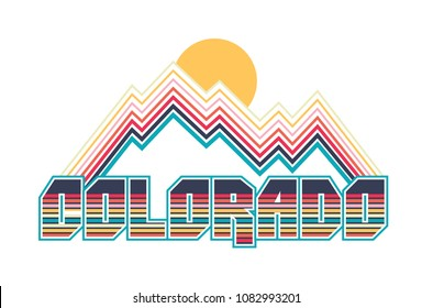 colorado retro tee design