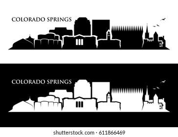 Colorado Springs skyline - vector illustration