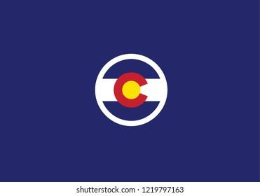 Colorado state flag circle shape country emblem usa symbol