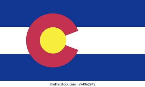 Colorado state national flag. Vector EPS8
