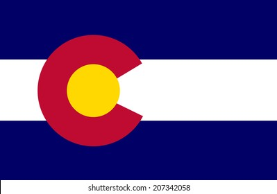 Colorado vector flag isolated over background.